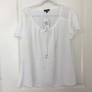 Spence White Peasant Top